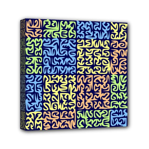 Puzzle Color Mini Canvas 6  x 6