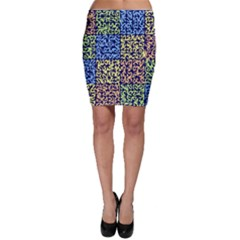 Puzzle Color Bodycon Skirt