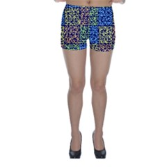 Puzzle Color Skinny Shorts
