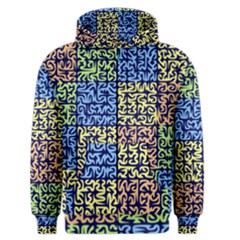 Puzzle Color Men s Zipper Hoodie