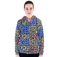 Puzzle Color Women s Zipper Hoodie