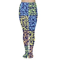 Puzzle Color Women s Tights