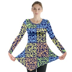 Puzzle Color Long Sleeve Tunic