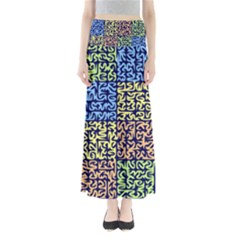 Puzzle Color Maxi Skirts