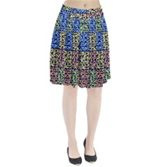 Puzzle Color Pleated Skirt