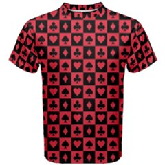 Queen Hearts Card King Men s Cotton Tee