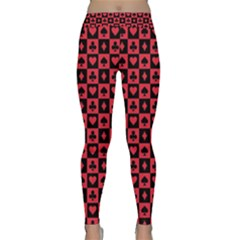 Queen Hearts Card King Classic Yoga Leggings