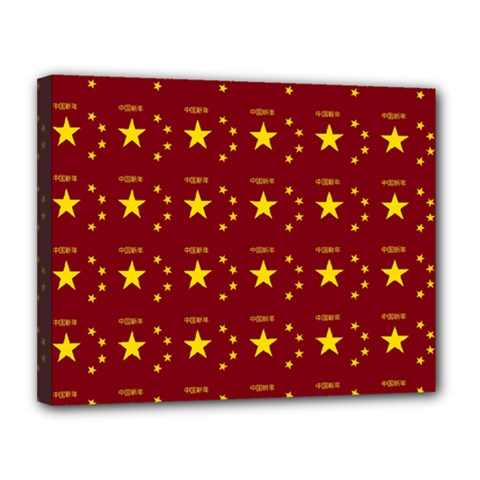 Chinese New Year Pattern Canvas 14  x 11