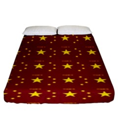 Chinese New Year Pattern Fitted Sheet (King Size)
