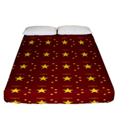 Chinese New Year Pattern Fitted Sheet (California King Size)