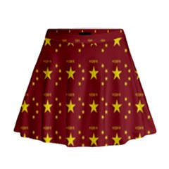 Chinese New Year Pattern Mini Flare Skirt