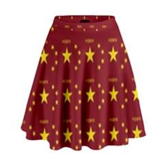 Chinese New Year Pattern High Waist Skirt