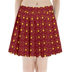 Chinese New Year Pattern Pleated Mini Skirt