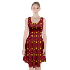 Chinese New Year Pattern Racerback Midi Dress