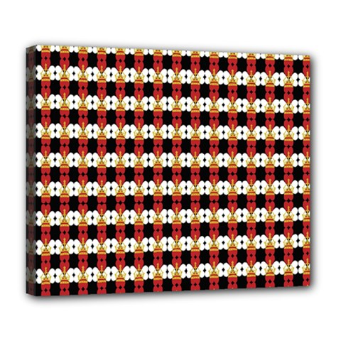 Queen Of Hearts  Hat Pattern King Deluxe Canvas 24  x 20