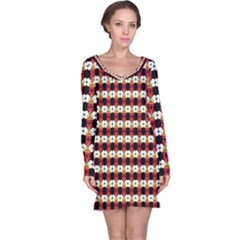 Queen Of Hearts  Hat Pattern King Long Sleeve Nightdress