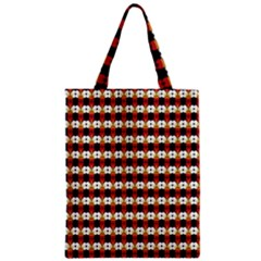 Queen Of Hearts  Hat Pattern King Zipper Classic Tote Bag