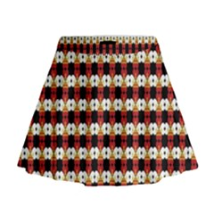 Queen Of Hearts  Hat Pattern King Mini Flare Skirt