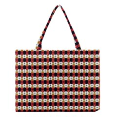 Queen Of Hearts  Hat Pattern King Medium Tote Bag