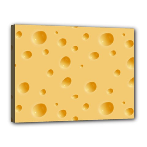 Seamless Cheese Pattern Canvas 16  x 12
