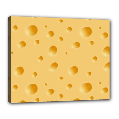 Seamless Cheese Pattern Canvas 20  x 16
