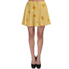 Seamless Cheese Pattern Skater Skirt