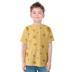 Seamless Cheese Pattern Kids  Cotton Tee