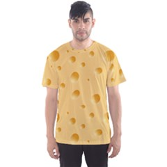 Seamless Cheese Pattern Men s Sport Mesh Tee