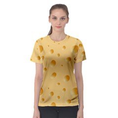 Seamless Cheese Pattern Women s Sport Mesh Tee