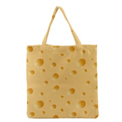 Seamless Cheese Pattern Grocery Tote Bag