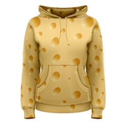 Seamless Cheese Pattern Women s Pullover Hoodie