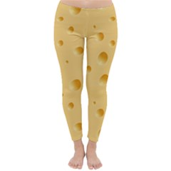 Seamless Cheese Pattern Classic Winter Leggings