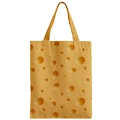 Seamless Cheese Pattern Zipper Classic Tote Bag