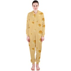 Seamless Cheese Pattern Hooded Jumpsuit (Ladies)