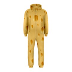 Seamless Cheese Pattern Hooded Jumpsuit (Kids)