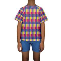 Sheath Malay Sarong Motif Kids  Short Sleeve Swimwear