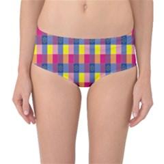 Sheath Malay Sarong Motif Mid-Waist Bikini Bottoms