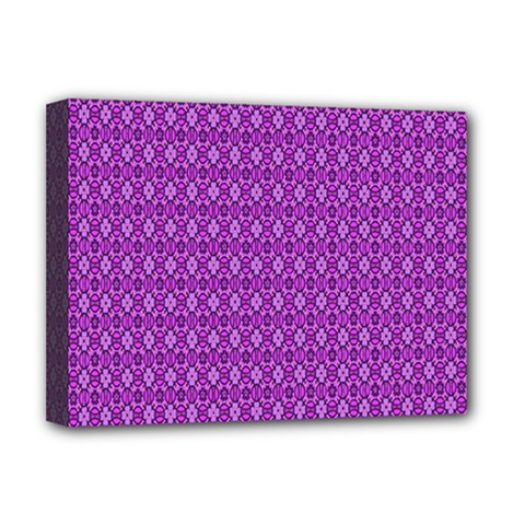 Surface Purple Patterns Lines Circle Deluxe Canvas 16  x 12