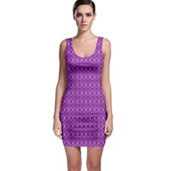 Surface Purple Patterns Lines Circle Sleeveless Bodycon Dress
