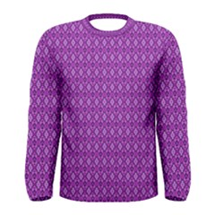 Surface Purple Patterns Lines Circle Men s Long Sleeve Tee