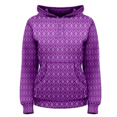 Surface Purple Patterns Lines Circle Women s Pullover Hoodie
