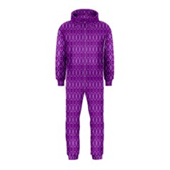 Surface Purple Patterns Lines Circle Hooded Jumpsuit (Kids)