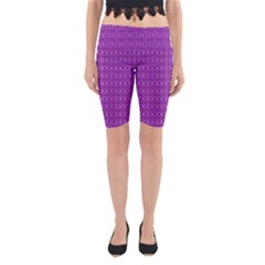 Surface Purple Patterns Lines Circle Yoga Cropped Leggings