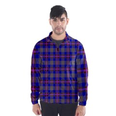 Tartan Fabric Colour Blue Wind Breaker (Men)