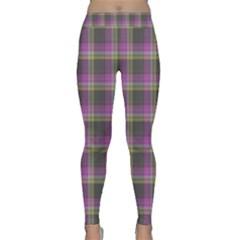 Tartan Fabric Colour Purple Classic Yoga Leggings