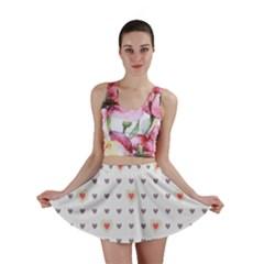 Heart Love Valentine Purple Pink Mini Skirt