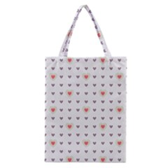 Heart Love Valentine Purple Pink Classic Tote Bag