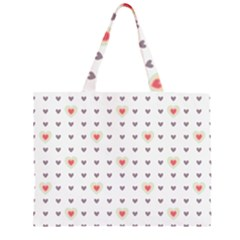 Heart Love Valentine Purple Pink Large Tote Bag