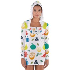 Fruit Lime Women s Long Sleeve Hooded T-shirt