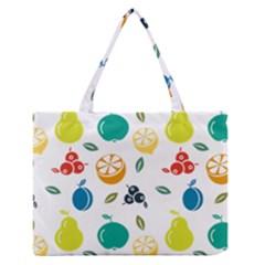 Fruit Lime Medium Zipper Tote Bag